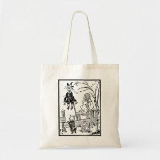 Vintage Wizard of Oz, Dorothy Toto Meet Scarecrow Budget Tote Bag