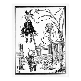 Vintage Wizard of Oz Dorothy Toto Meet Scarecrow Announcement