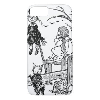 Vintage Wizard of Oz, Dorothy Toto Meet Scarecrow iPhone 8/7 Case