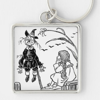 Vintage Wizard of Oz, Dorothy Toto Meet Scarecrow Key Ring