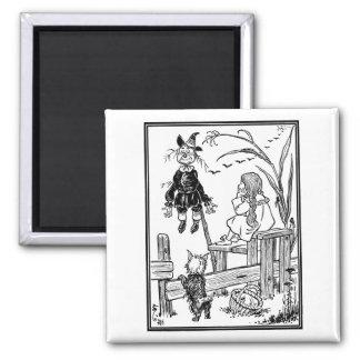 Vintage Wizard of Oz, Dorothy Toto Meet Scarecrow Magnet