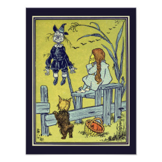 Vintage Wizard of Oz, Dorothy Toto Scarecrow Posters