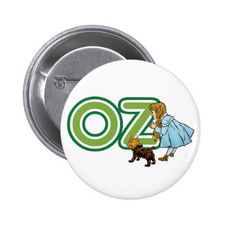Vintage Wizard of Oz Dorothy Toto with BIG Letters 6 Cm Round Badge
