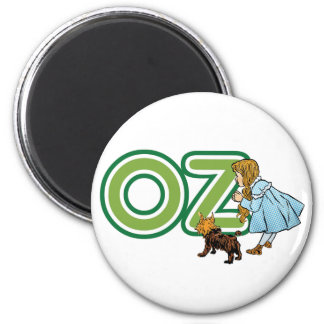 Vintage Wizard of Oz Dorothy Toto with BIG Letters 6 Cm Round Magnet