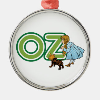 Vintage Wizard of Oz Dorothy Toto with BIG Letters Silver-Colored Round Decoration