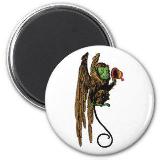 Vintage Wizard of Oz, Evil Flying Monkey Hat 6 Cm Round Magnet