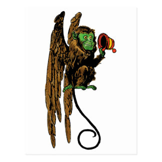 Vintage Wizard of Oz, Evil Flying Monkey Hat Postcard