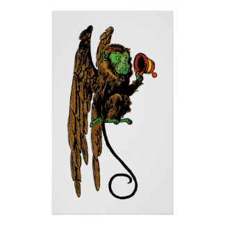 Vintage Wizard of Oz, Evil Flying Monkey Hat Poster