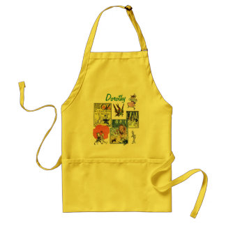 Vintage Wizard of Oz Fairy Tale Book Characters Standard Apron
