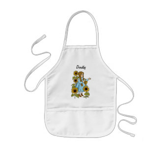 Vintage Wizard of Oz Fairy Tale Dorothy Sunflowers Aprons