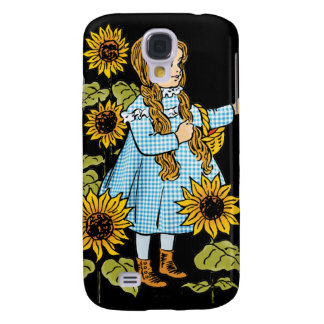 Vintage Wizard of Oz Fairy Tale Dorothy Sunflowers Galaxy S4 Case