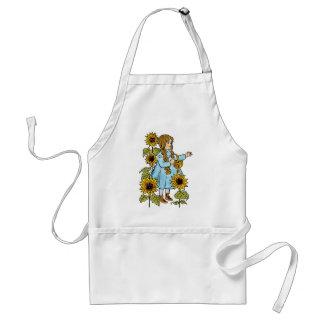 Vintage Wizard of Oz Fairy Tale Dorothy Sunflowers Standard Apron