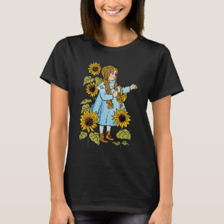 Vintage Wizard of Oz Fairy Tale Dorothy Sunflowers T-Shirt