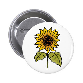 Vintage Wizard of Oz Fairy Tale Sunflower in Bloom 6 Cm Round Badge