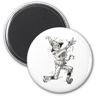 Vintage Wizard of Oz Fairy Tales, the Scarecrow 6 Cm Round Magnet