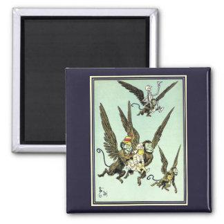 Vintage Wizard of Oz, Flying Monkeys with Dorothy Magnet