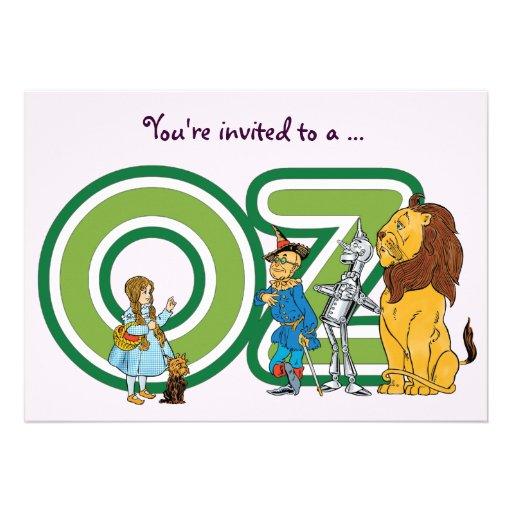 Vintage Wizard of Oz Girl Birthday Invitation