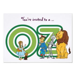 Vintage Wizard of Oz Girl Birthday Party 13 Cm X 18 Cm Invitation Card