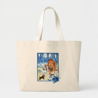 Vintage Wizard of Oz Illustration - Dorothy & Lion Tote Bags