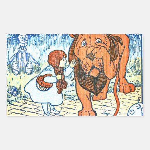 Vintage Wizard of Oz Illustration - Dorothy & Lion Sticker