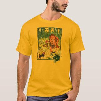 Vintage Wizard of Oz Illustration - Dorothy & Lion T-Shirt