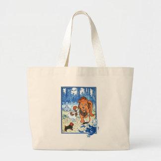 Vintage Wizard of Oz Illustration - Dorothy & Lion Tote Bags