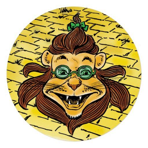 Vintage Wizard of Oz, Lion Boy Birthday Party Custom Announcement
