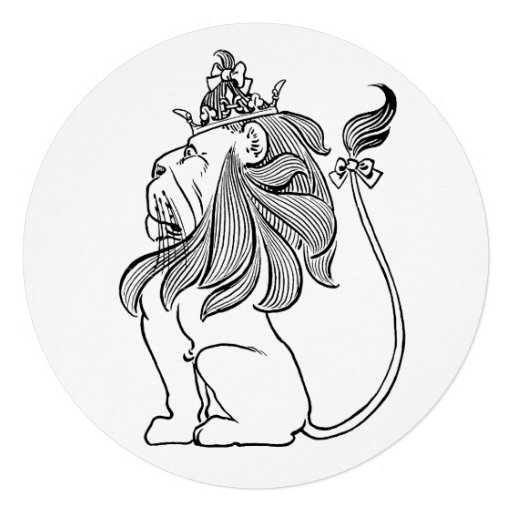 Vintage Wizard of Oz, Lion Boy Birthday Party Custom Announcements