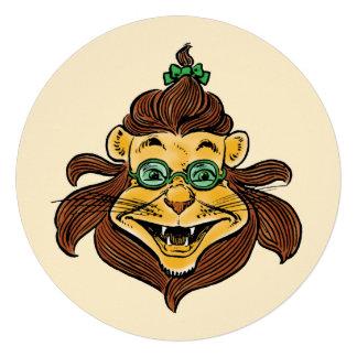 Vintage Wizard of Oz Lion Boy Birthday Party Custom Invitations