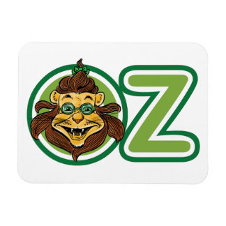 Vintage Wizard of Oz, Lion in the Letter O Rectangular Photo Magnet