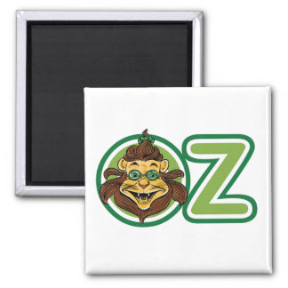Vintage Wizard of Oz, Lion in the Letter O Square Magnet
