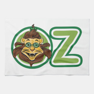 Vintage Wizard of Oz, Lion in the Letter O Tea Towel