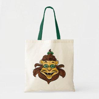 Vintage Wizard of Oz, Lion Wearing Green Glasses Budget Tote Bag