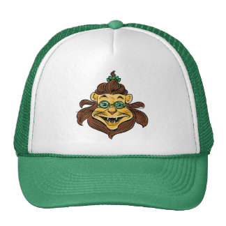 Vintage Wizard of Oz, Lion Wearing Green Glasses Cap