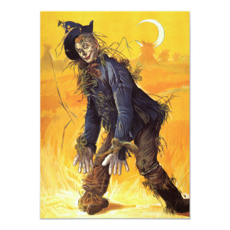 Vintage Wizard of Oz Scarecrow 11 Cm X 16 Cm Invitation Card