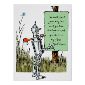 Vintage Wizard of Oz, Tinman Reading Sign Print