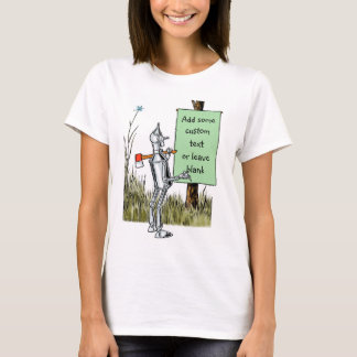 Vintage Wizard of Oz, Tinman Reading Sign T-Shirt