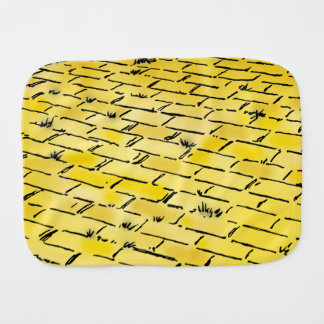 Vintage Wizard of Oz Yellow Brick Road by Denslow Burp Cloth