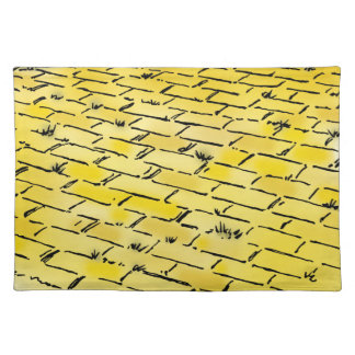 Vintage Wizard of Oz Yellow Brick Road by Denslow Placemat