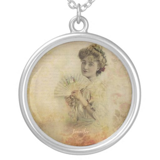 Vintage Woman Actress Portrait from 1900s Custom Necklace