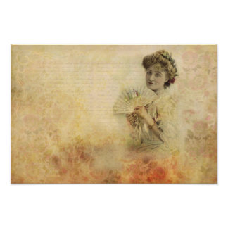 Vintage Woman Actress Portrait from 1900s Photo Print