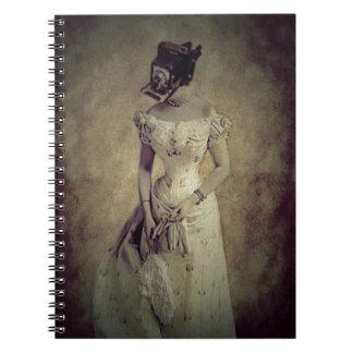 Vintage Woman Camera Art Decor Spiral Note Book