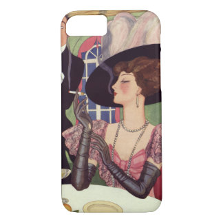 Vintage Woman Drinking Champagne Smoking Cigarette iPhone 7 Case