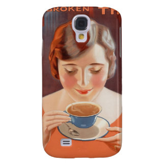Vintage Woman Drinking Tea Painting Ad Galaxy S4 Case