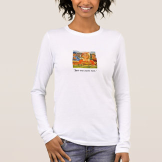 Vintage Woman Driving & Knitting Long Sleeve T-Shirt