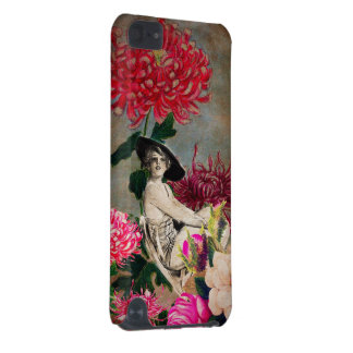 Vintage Woman Flower Collage iPod Touch (5th Generation) Cover