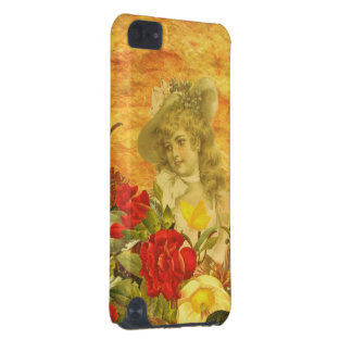 Vintage Woman Flower Garden iPod Touch 5G Covers