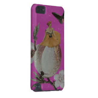 Vintage Woman Flower Grunge iPod Touch 5G Cases