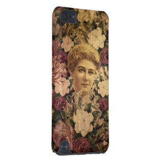 Vintage Woman Flower GrungeII iPod Touch (5th Generation) Cases