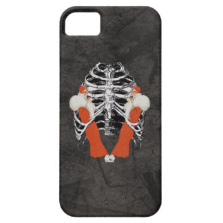 Vintage Woman Lips Ribcage Black Grunge Case For The iPhone 5